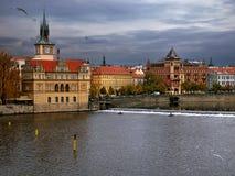 Embankment in Praha Stock Photography
