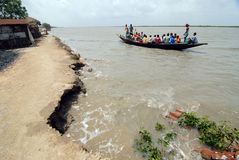 Embankment Problem in Sundarban Stock Photos