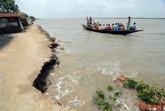Embankment Problem in Sundarban Stock Photos
