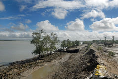Embankment Problem in Sundarban Royalty Free Stock Photo