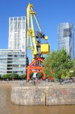 Embankment of Puerto Madero district, Buenos Aires. Stock Image