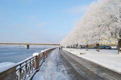 The embankment in Riga. Stock Photos