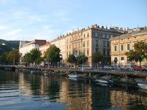 Embankment of Rijeka stock photography