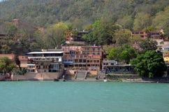 Embankment in Rishikesh, India Stock Images