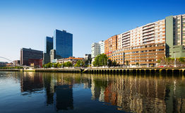 Embankment of  river. Bilbao Stock Photos