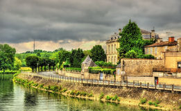 The embankment of the river Charente in Saintes Royalty Free Stock Images