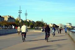 Embankment of  the river Garonne Stock Photo