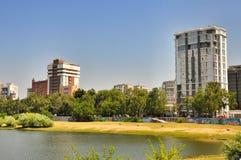 Embankment of the river Kuban Stock Images