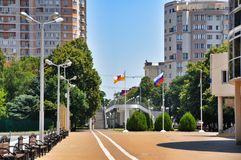 Embankment of the river Kuban Royalty Free Stock Photo