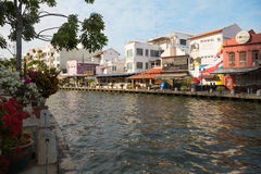 Embankment of the river in Malacca, Malaysia Stock Photo