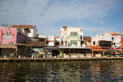 Embankment of the river in Malacca, Malaysia Stock Photography