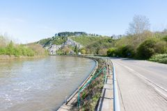 Embankment of the River Meuse in Belgium Royalty Free Stock Photo