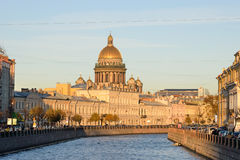 The embankment of the river Moika, St. Isaac's Cathedral Royalty Free Stock Photos