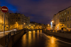 The embankment of the river Moika in St. Petersburg, Russia Royalty Free Stock Image