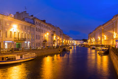 The embankment of the river Moika in St. Petersburg, Russia Stock Image