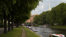 Embankment of the river Moika St. Petersburg stock video footage