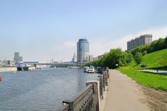 Embankment, the river is Moscow Royalty Free Stock Image