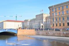 Embankment of River Moyka. Royalty Free Stock Photo