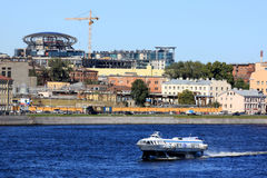 Embankment of the river Neva Stock Photo