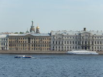 The embankment of the river Neva. Saint-Petersburg. Russia. Building on the embankment of the river Neva in St. Petersburg in Russia Royalty Free Stock Photos