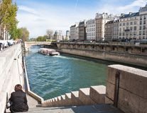 Embankment of the river Seine Stock Photos