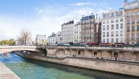Embankment of the river Seine Stock Image