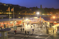 Embankment of the river Seine. Night. HDR Stock Photography