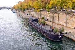 Embankment river Seine in Paris, France. Royalty Free Stock Photo