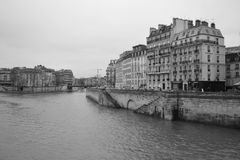 Embankment of the river Seine in Paris. Royalty Free Stock Image