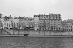 Embankment of the river Seine in Paris Stock Photos