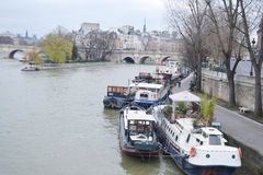 Embankment of the river Seine in Paris. Stock Images