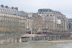 Embankment of the river Seine in Paris. Royalty Free Stock Photography