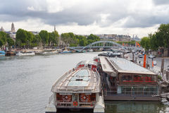 Embankment the River Seine. Stock Images