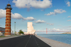 Embankment of river Tagus, Lisbon, Portugal Royalty Free Stock Image