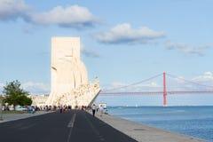Embankment of river Tagus, Lisbon, Portugal Stock Image
