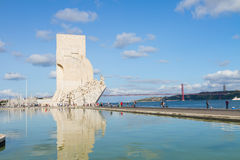 Embankment of river Tagus, Lisbon, Portugal Royalty Free Stock Photos