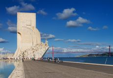 Embankment of river Tagus, Lisbon, Portugal Stock Images