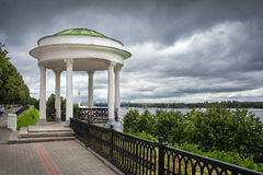 Embankment of the river Volga in Yaroslavl. Stock Image