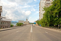 Embankment of the river Yenisei Royalty Free Stock Photos