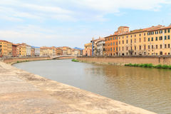 Embankment and riverbank of river Arno in Pisa Royalty Free Stock Photography