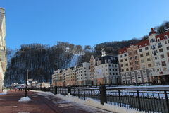 Embankment in Rosa Khutor. Stock Photography
