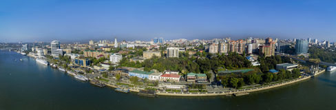 Embankment of Rostov-on-Don. Panorama. Russia Royalty Free Stock Photo
