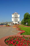 Embankment of Rostov-on-Don and river station - Russia Stock Photography
