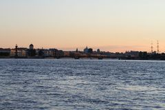Embankment of Saint Petersburg stock photo
