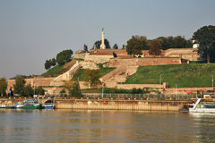 Embankment of Sava river in Belgrade. Serbia Royalty Free Stock Photography