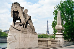 Embankment of Seine Stock Photography