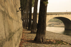 Embankment of the Seine River in Paris, France. Royalty Free Stock Images