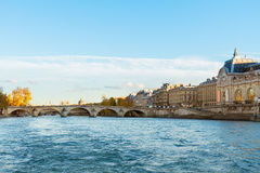 Embankment of Seine river, Paris, France Royalty Free Stock Photo