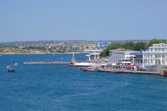 Embankment of Sevastopol city Royalty Free Stock Photography