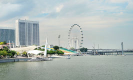 Embankment of Singapore Stock Image